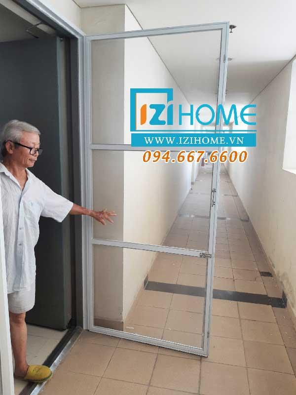 Cửa lưới chống muỗi dạng 1 cánh mở cho chung cư