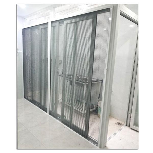Cửa lưới chống muỗi dạng xếp có ray