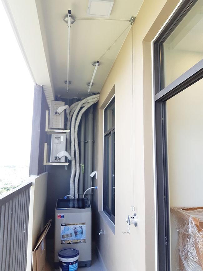 Lắp đặt giàn phơi thông minh GZ241 tại chung cư Quận 8