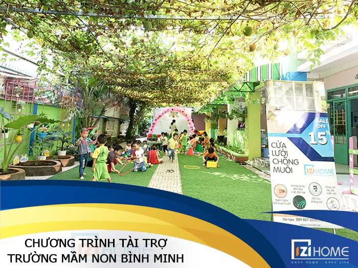 Chương trình tài trợ Ngày nhà giáo Việt Nam tại trường mầm non Bình Minh